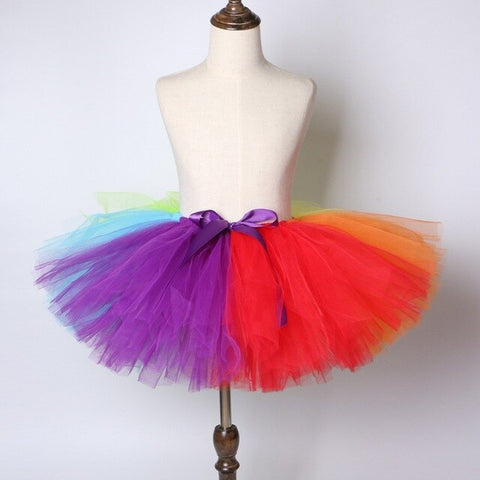 Rainbow Flower Girls Tutu Skirt - Ballet Dance Tutu Birthday Party Outfit - Tutu-Dresses.com
