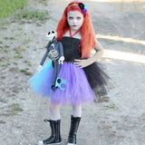 Ragdoll Girls Tutu Dress Nightmare Before Christmas Sally Cosplay Girls Halloween Costume for Kids Carnival Party Dress 1-14Year - Tutu-Dresses.com