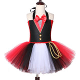 Circus Ringmaster Tutu Dress Tulle Fancy Girl Performance Dress Kids Birthday Party Dresses for Girls Halloween Carnival Costume - Tutu-Dresses.com