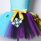 Nightmare Before Christmas Girls Tutu Dress Sally Jack Skellington Girls Halloween Carnival  Party Dress Costume for Kids 2-12Y - Tutu-Dresses.com