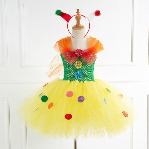 New Clown Inspired Tutu Dress Girl Circus Party Dress Cute Christmas Present for Baby Girls Toddler Clothes Tutu Dresses for Girls - Tutu-Dresses.com