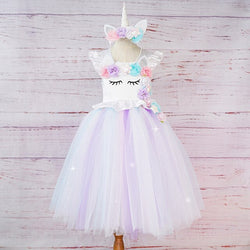 Princess Unicorn Inspired Tutu Dress - Girls Handmade Tutu Dress with Headband - Tutu-Dresses.com