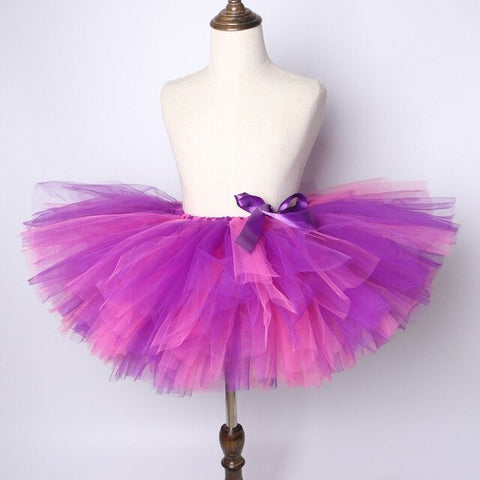 Pink & Purple Flower Girls Tutu Skirt - Ballet Dance Tutu Birthday Party Outfit - Tutu-Dresses.com