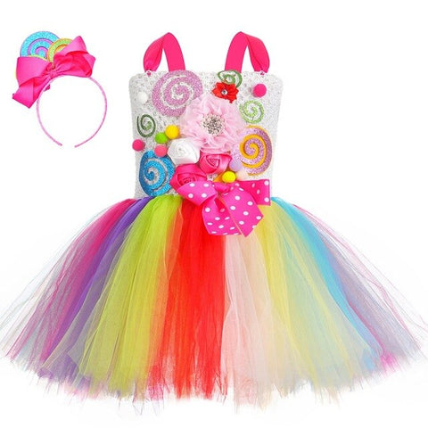 Girls Bright Candy Sweet Tutu Dress - Gorgeous Cake Smash Birthday Party Costume - Tutu-Dresses.com