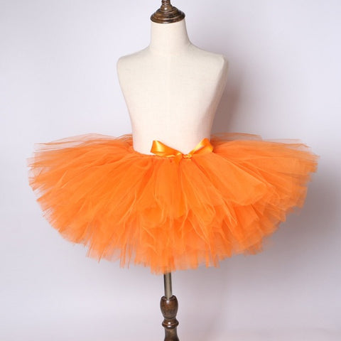 Orange Flower Girls Tutu Skirt - Ballet Dance Tutu Birthday Party Outfit - Tutu-Dresses.com