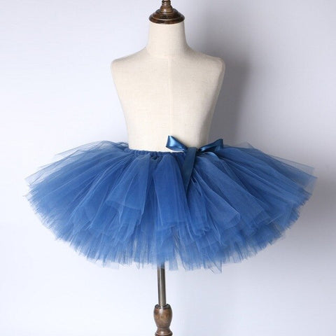 Navy Blue Flower Girls Tutu Skirt - Ballet Dance Tutu Birthday Party Outfit - Tutu-Dresses.com