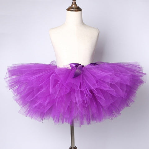 Purple Flower Girls Tutu Skirt - Ballet Dance Tutu Birthday Party Outfit - Tutu-Dresses.com