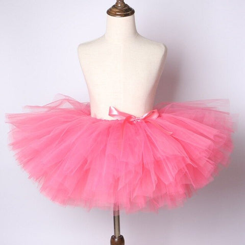 Coral  Baby Girls Tutu Skirt - Ballet Dance Tutu Birthday Party Outfit - Tutu-Dresses.com