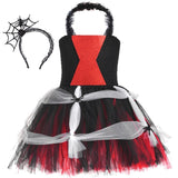 Poisonous Widow Spider Tutu Dress - Girls Halloween Costumes with Spider Headband - Tutu-Dresses.com