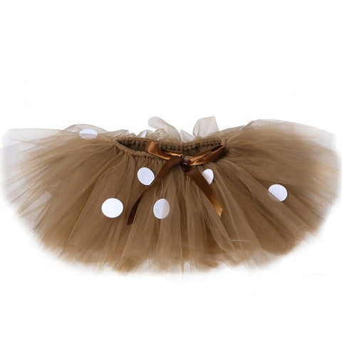 Brown Deer Girls Tutu Skirt Outfit and Reindeer Headband - Tutu-Dresses.com
