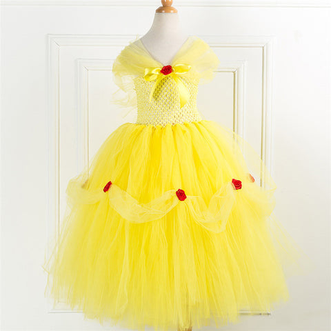 Girls Belle Princess Tutu Dress - Beauty And The Beast Birthday Party Costume - Tutu-Dresses.com