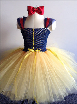 Snow White Princess Dress Baby Girl Cosplay Costume Baby Tutu Dress Wedding Party Toddler 1 Year Birthday Dress Snow White Fancy Dress - Tutu-Dresses.com