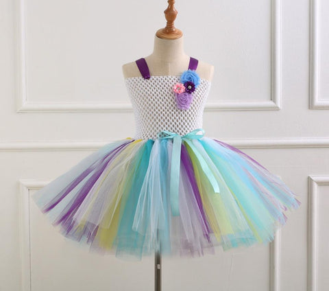 Unicorn Inspired Tutu Dress - Handmade Tutu Dress - Unicorn Fancy Dress - Unicorn Costume - Unicorn Headband - Birthday Party Outfit - Children Kids Pony Unicorn Tutu - Tutu-Dresses.com