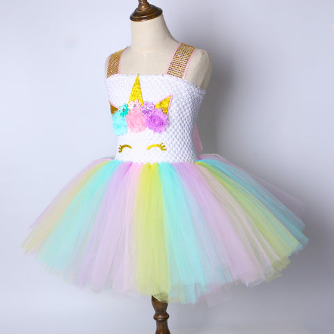 Girls Unicorn Tutu Dress - Kids Birthday Party Costume - Tutu-Dresses.com