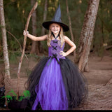 Girls Witch Tutu Costume - Kids Fluffy Tutu Dress - Children Ball Gown - Witch Halloween Costume - Birthday Party Photo Props - Tutu-Dresses.com