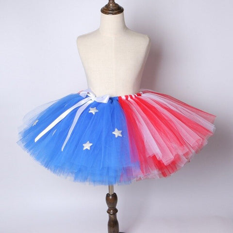 Captain America Flower Girls Tutu Skirt - Ballet Dance Tutu Birthday Party Outfit - Tutu-Dresses.com