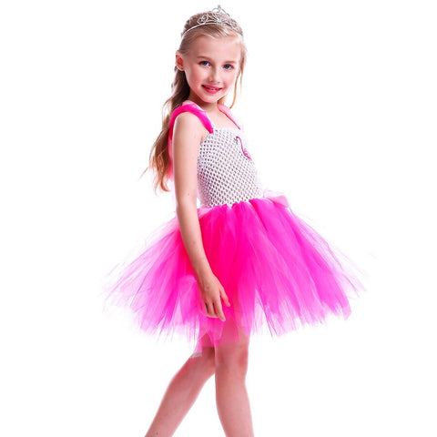 Flamingo Inspired Tutu Dress - Pink Flower Tulle Clothes - Handmade Tutu Dress -  Kids Birthday Party Dress Costume - Flamingo Costume - Tutu-Dresses.com