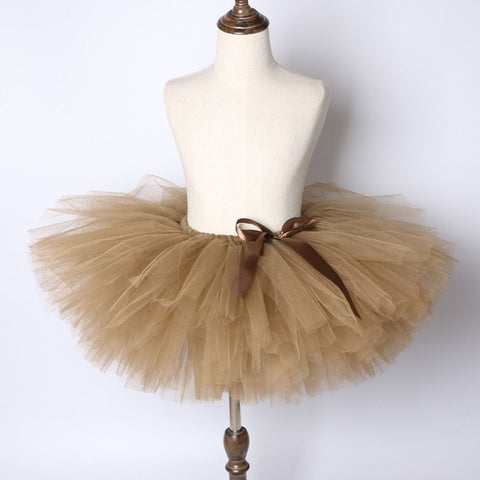 Brown Girls Tutu Skirt - Ballet Dance Tutu Birthday Party Outfit - Tutu-Dresses.com