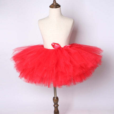 Red Girls Tutu Skirt - Ballet Dance Tutu Birthday Party Outfit - Tutu-Dresses.com