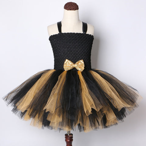 Black Gold Lol Queen Bee Tutu Dress Girl Kids Princess Tutu Dresses for Girls Birthday Party  Lol Dolls Cosplay Costume - Tutu-Dresses.com