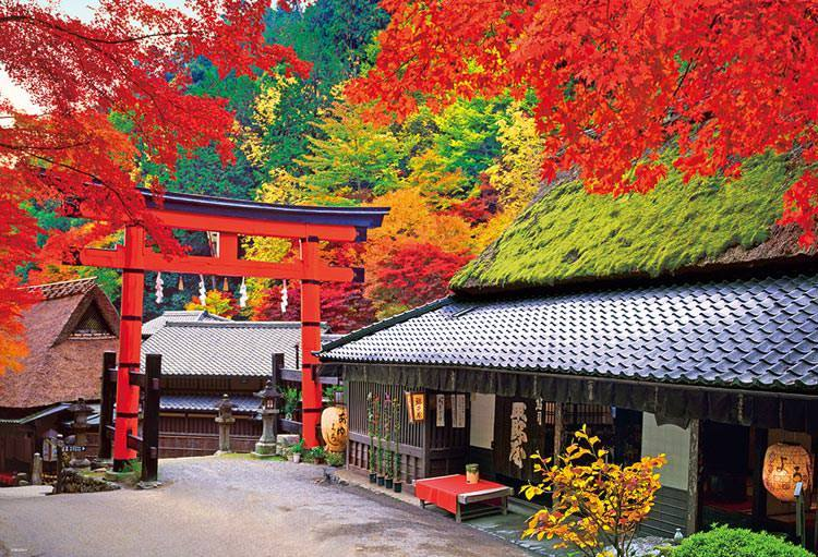 BEV-51-264 Beverly • Scenery • Autumn in Tea House 1000 Pieces Jigsaw Puzzle