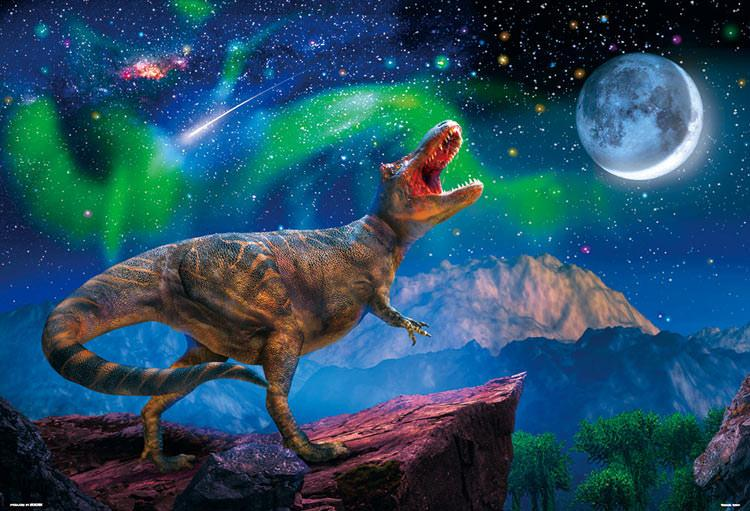 BEV-61-440 Beverly • Creature • Starry Night Tyrannosaurus 1000 Pieces Jigsaw Puzzle