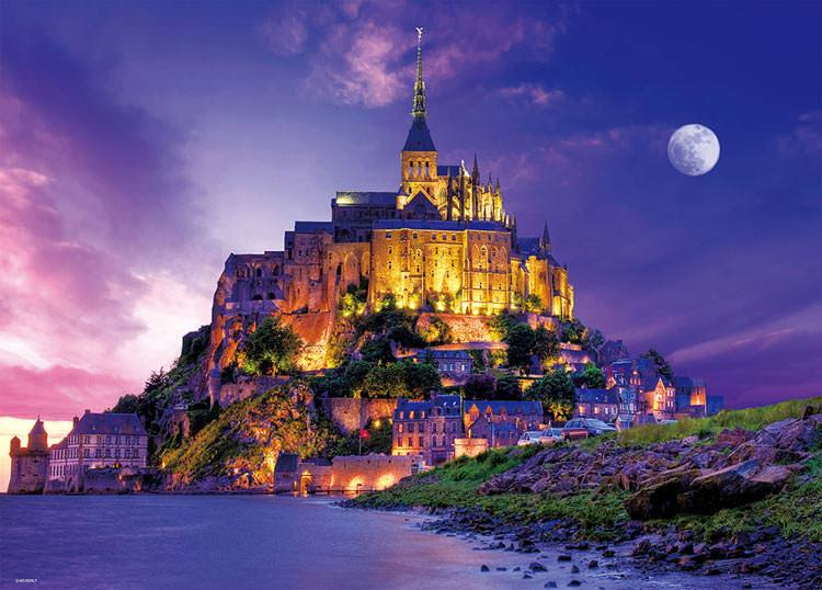 BEV-66-130 Beverly • Scenery • Twilight Mont Saint-Michel 600 Pieces Jigsaw Puzzle