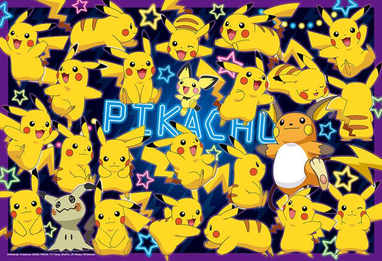 BEV-80-011 Beverly • Pokemon • Lots of Pikachu! 80 Pieces Jigsaw Puzzle