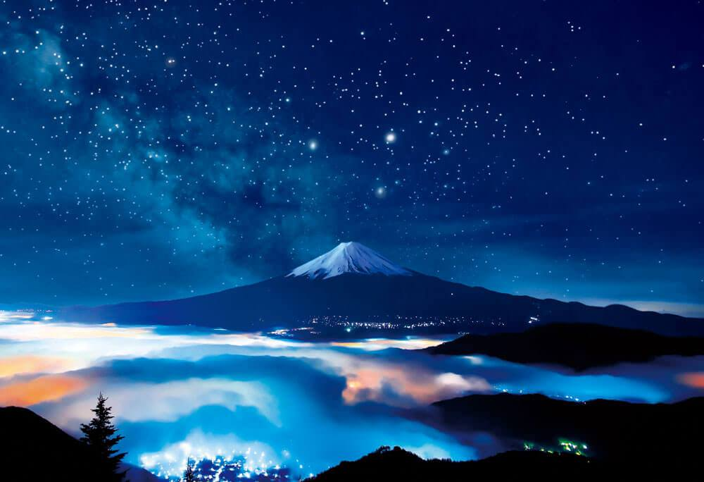 BEV-83-091 Beverly • Scenery • Starry Sky Mount Fuji 300 Pieces Jigsaw Puzzle