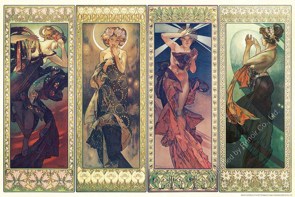REN-R-1008-1638 Renoir • Alphonse Mucha • The Moon and the Stars 1008 Pieces Jigsaw Puzzle
