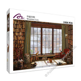 REN-R-1008-1732 Renoir • David Maclean • Windows Cats 1008 Pieces Jigsaw Puzzle