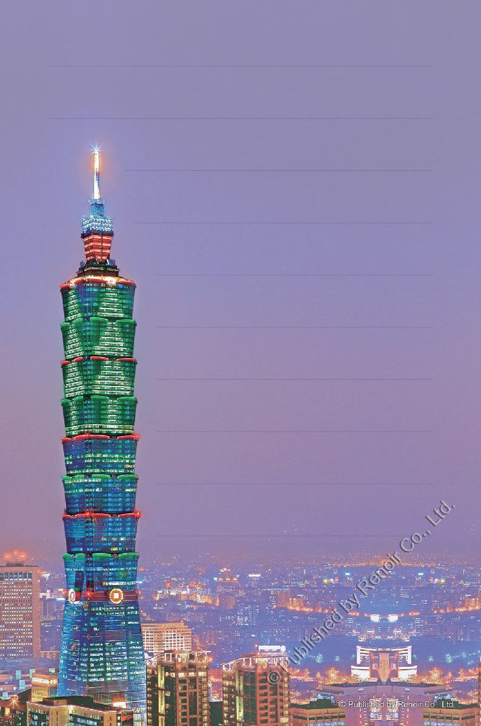 REN-R-54-TAIPEI Renoir • Scenery • The Lit Up City of Taipei 54 Pieces Jigsaw Puzzle