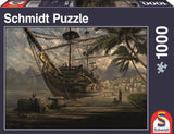 SCH-58183 Schmidt • Illustration • Ship at Anchor 1000 Pieces Jigsaw Puzzle