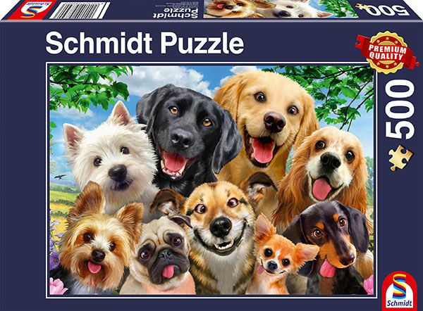 SCH-58390 Schmidt • Howard Robinson • Dog Selfie 500 Pieces Jigsaw Puzzle