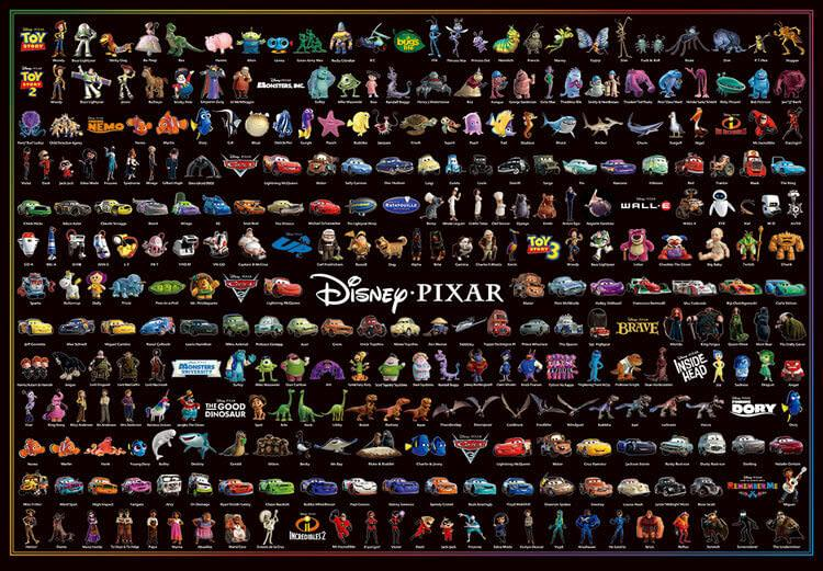 TEN-D-1000-036 Tenyo • Pixar Character Collection 1000 Pieces Jigsaw Puzzle