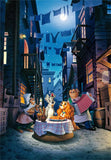 TEN-D-1000-063 Tenyo • Lady & the Tramp • Moonlight Dinner 1000 Pieces Jigsaw Puzzle