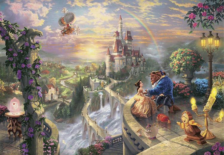 TEN-D-1000-487 Tenyo • Beauty and the Beast Falling in Love 1000 Pieces Jigsaw Puzzle