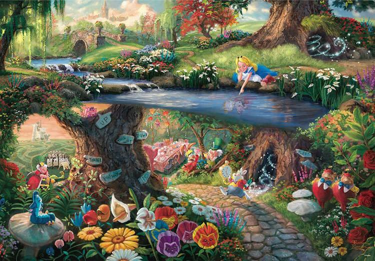TEN-D-1000-490 Tenyo • Alice in Wonderland 1000 Pieces Jigsaw Puzzle