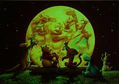 TEN-D-300-180 Tenyo • Winnie the Pooh • Moonlight Party 300 Pieces Jigsaw Puzzle