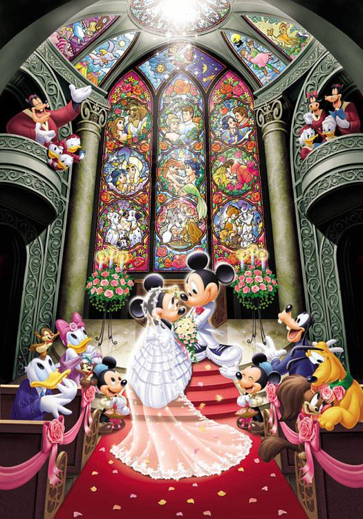TEN-D-500-356 Tenyo • Mickey & Minnie • Fantasy Celebration 500 Pieces Jigsaw Puzzle