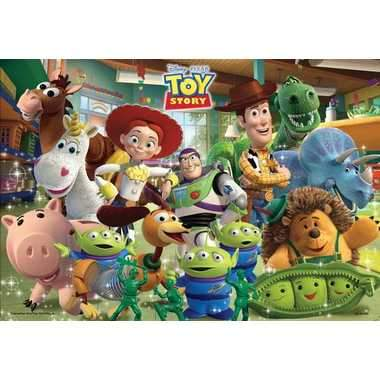 TEN-DC-40-080 Tenyo • Toy Story • Lots of Toys 40 Pieces Jigsaw Puzzle