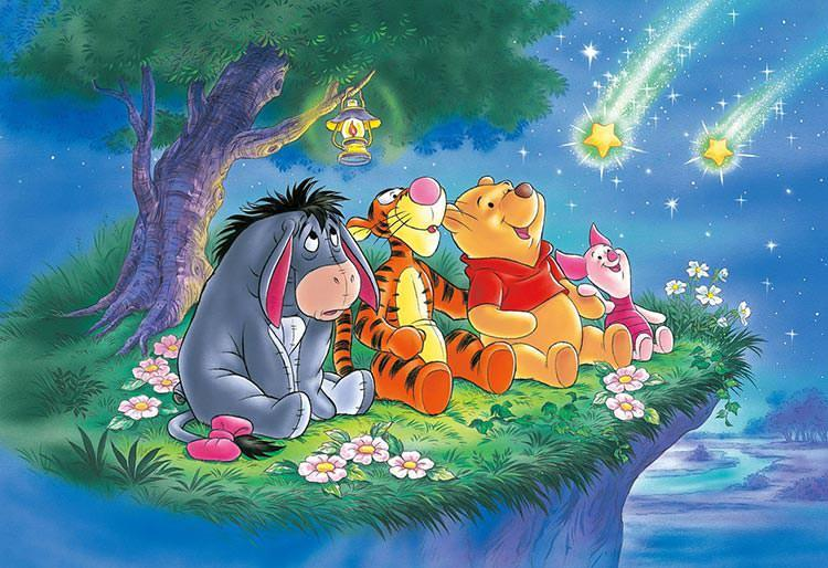 TEN-DK-96-030 Tenyo • Winnie the Pooh • Twinkling Star 96 Pieces Jigsaw Puzzle