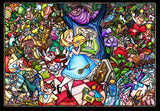 TEN-DP-1000-027 Tenyo • Alice in Wonderland Story Stained Glass 1000 Pieces Jigsaw Puzzle