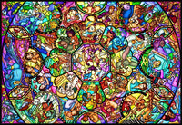 TEN-DS-1000-764 Tenyo • Disney • All-Star Stained Glass 1000 Pieces Jigsaw Puzzle