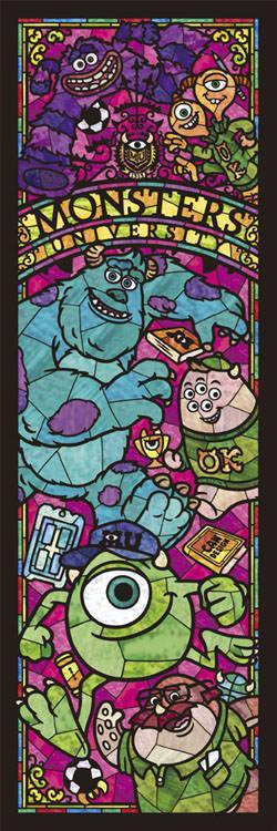 TEN-DSG-456-720 Tenyo • Monsters University Stained Glass 456 Pieces Jigsaw Puzzle