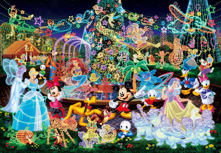 TEN-DSG-500-388 Tenyo • Disney • Magical Illumination 500 Pieces Jigsaw Puzzle