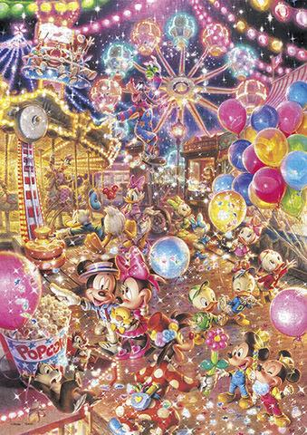 TEN-DW-1000-009 Tenyo • Mickey & Friends • Twilight Park 1000 Pieces Jigsaw Puzzle