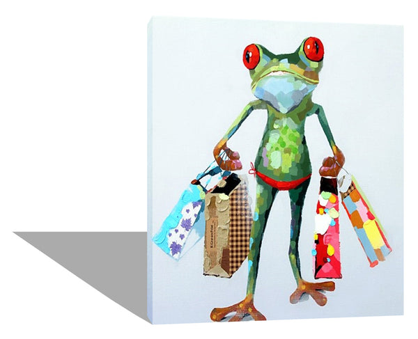 Funky Frog Goes Shopping