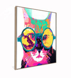 Funky Cat With Glasses