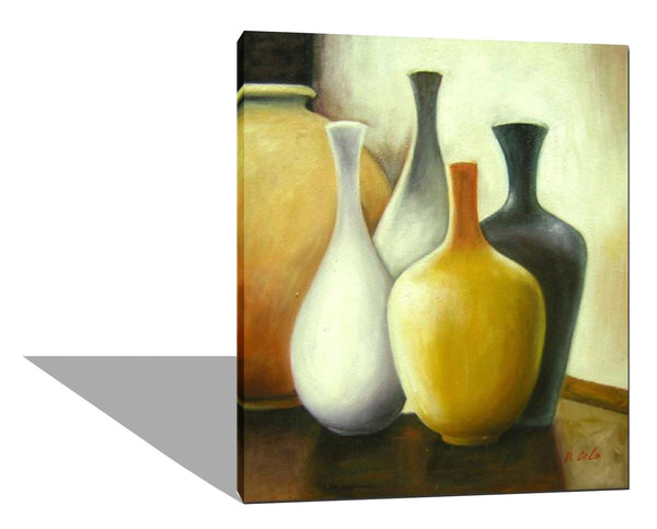Four Empty Vases